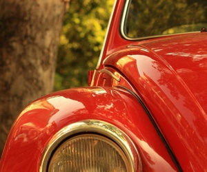 car, red, and beetle image