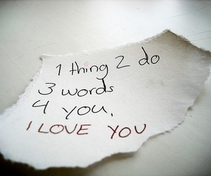 text, plain white t's, and I Love You image