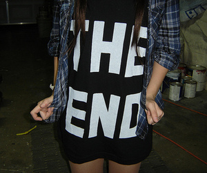 the end, shirt, and end image