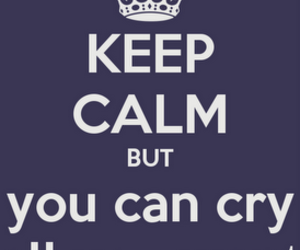 cry, keep calm, and poster image