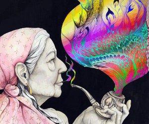 smoke, psychedelic, and art image