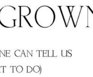 grown up, wildfox, and typography image