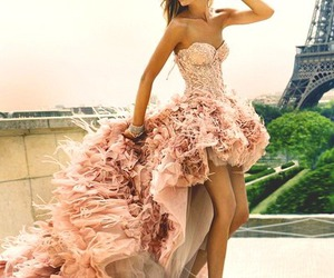 dress, gown, and paris image