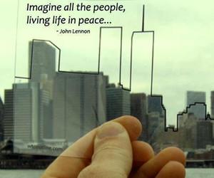 john lennon, peace, and imagine image