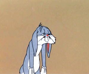 bugs bunny, cartoon, and tired image