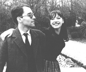 anna karina, jean-luc godard, and couple image