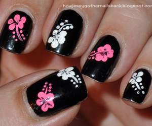 hibiscus and nails art image