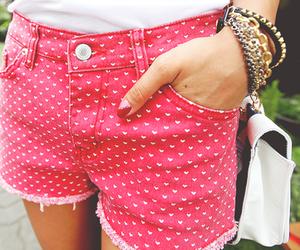 fashion, pink, and shorts image