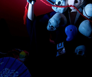 cosplay, drammatical murder, and skull image