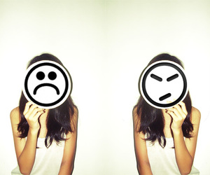 girl, cute, and emoticon image