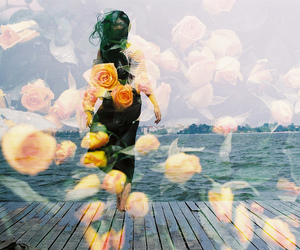 double, exposure, and flower image