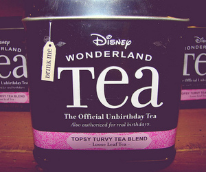 disney, tea, and alice in wonderland image