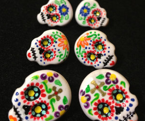 colorful, earrings, and handmade image