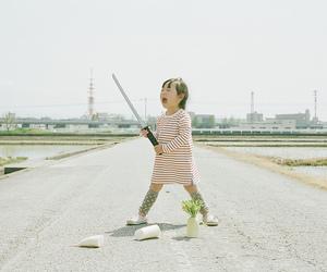child, samurai, and japan image