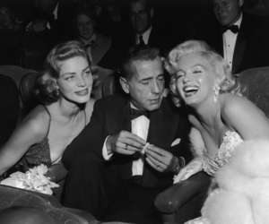 Marilyn Monroe, vintage, and Humphrey Bogart image