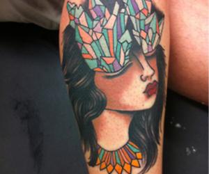 crystal, girl, and tattoo image