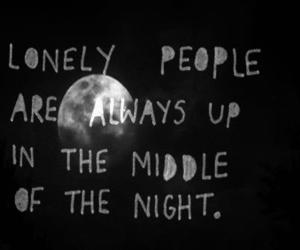 lonely, quotes, and night image
