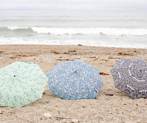 beach, umbrellas, and photography image