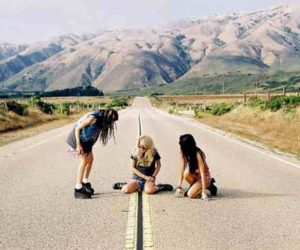 friends, road, and summer image