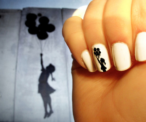 nails, girl, and balloons image
