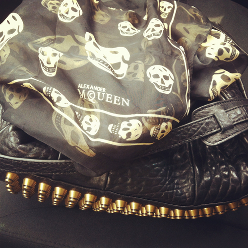Alexander McQueen, MCQ, and bag image