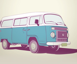 drawing, volkswagen, and vw image