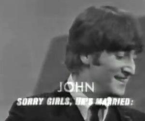 john lennon, married, and sorry image