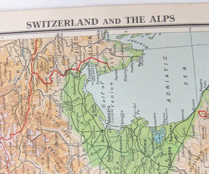 home decor, switzerland, and antique map image