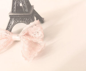 paris, bow, and pink image
