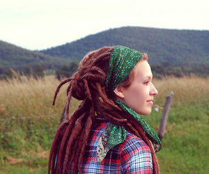 dreads, hair, and want it image