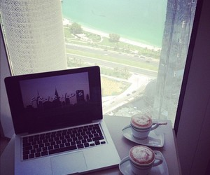 coffee, friends, and beach image