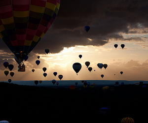 balloons, sky, and photography image