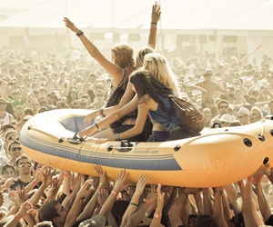 boat, girls, and festival image