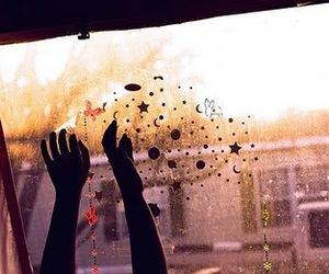 hands, stars, and window image