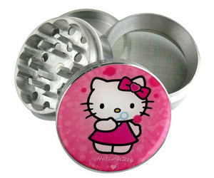 hello kitty, pink, and grinder image