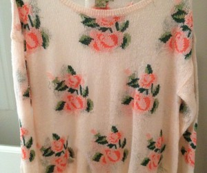 sweater, fashion, and rose image
