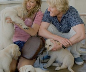 dog, marley and me, and couple image