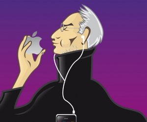 apple, Steve Jobs, and cover image