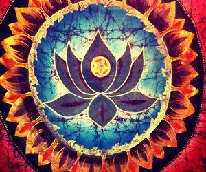 lotus, art, and flower image