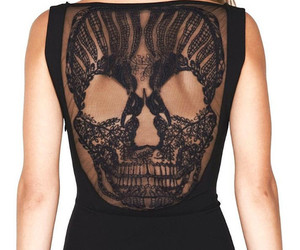 fashion, skull, and dress image