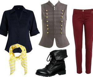 boots, les mis, and clothing set image
