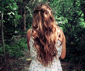 hair, girl, and nature image