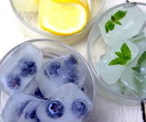 ice, fruit, and lemon image