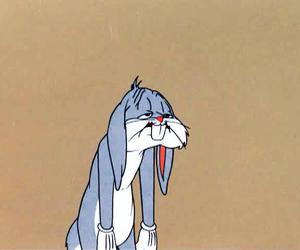 bugs bunny, cartoon, and tired image