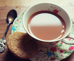 biscuit, teacup, and coffee image