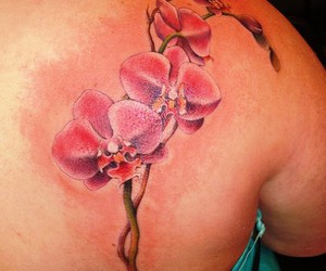 orchid tattoo image