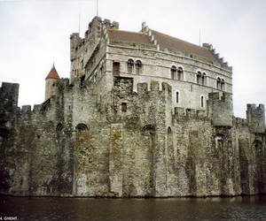 castle, belgium, and medieval image