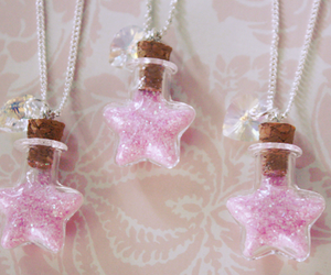 stars, jewelry, and pink image