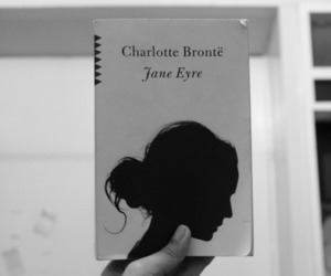 black and white, book, and charlotte bronte image