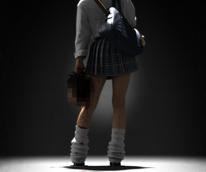 girl, school, and horror image